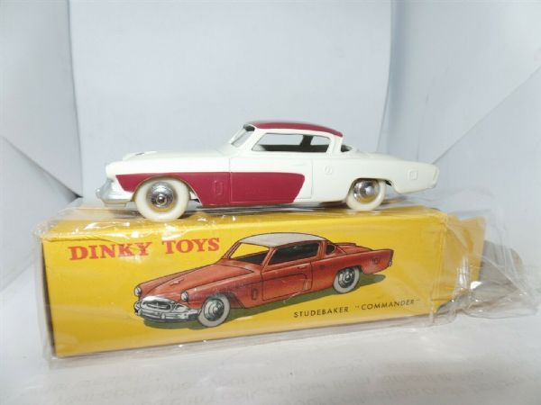 Atlas French Dinky 540 STUDEBAKER Commander White & Red